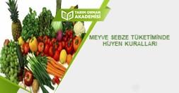 Meyve Sebze Tüketiminde Hijyen Kuralları